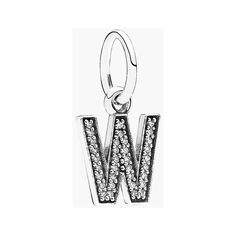 PANDORA Pave Initial Dangle Charm (2.750 RUB) ❤ liked on Polyvore featuring jewelry, pendants, pave jewelry, initial jewelry, pandora charms, letter charms and letter jewelry