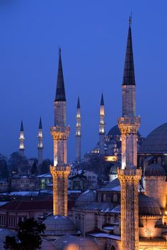 Sehzade and Süleymaniye Mosques, Istanbul Islamic Architecture, Art And Architecture, Places Around The World, Around The Worlds, Beautiful World, Beautiful Places, Empire Ottoman, Blue Mosque, Beautiful Mosques