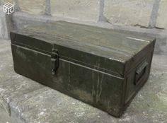 Ancienne caisse militaire en métal 55x33x20