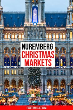Visit one of the largest Christmas Markets in Germany when you go to Nuremberg. The markets make their way around the entire town. Take a carriage ride to see all the festivities. Be sure to try the Nuremberg sausages while you're strolling around the markets. Three small sausages tucked in a crispy warm bun. There are beautiful gifts and handcrafts to buy as holiday presents or just enjoy by browsing.  #ChristmasMarkets #Germany