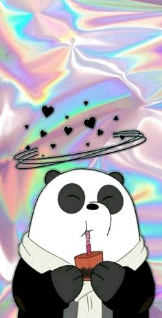 Panda🐼❤️ - - We bare bears - Unicornios Wallpaper, Emoji Wallpaper Iphone, Cute Panda Wallpaper, Cute Patterns Wallpaper, Cute Disney Wallpaper, Kawaii Wallpaper, Cute Wallpaper Backgrounds, Unicorn Wallpaper Cute, Tumblr Wallpaper