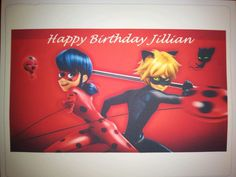 Just made this Miraculous Tales of Ladybug and Cat Noir #miraculousladybug #catnoir #miraculoustalesofladybugandcatnoir #miraculousladybugcake Cake Stuff to Go  You can have your own image or choose a favorite character picture as your cake topper. *Cake not included www.cakestufftogo.com  #Ediblecaketopper #birthday #birthdaycake #party #celebration #createyourown #personalize #cakepictures #cake #cakedecorating