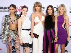 Zendaya, Hailee Steinfeld, Taylor Swift, Lily Aldridge, and Martha Hunt arrive at the Billboard Music Awards held at the MGM Grand Garden Arena in Las Vegas on May 17, 2015.   - Cosmopolitan.com