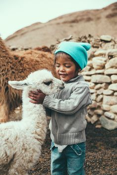<3 whimsical cute llama and child world photo art , thanks for the wool twinkle toes woolly warming picture