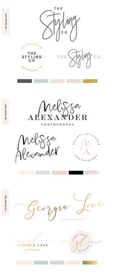 So many gorgeous logos to choose from! #logo #branding #business #etsy #australian #ad