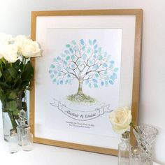 Wedding Fingerprint Tree Guest Book by LillyPea Designs, the perfect gift for Explore more unique gifts in our curated marketplace. Wedding Guest Book, Our Wedding, Rustic Wedding, Dream Wedding, Wedding Fingerprint Tree, Book Wrap, Guest Book Tree, Guest Books, Tree Print