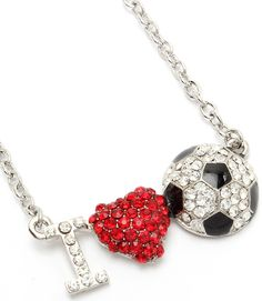 I Love  Soccer Necklace $11.99