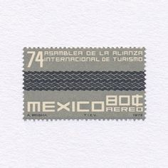 74th Assembly of the International Alliance of Tourism (80¢). Mexico, 1972. Design: A. Brisha. #mnh #graphilately | by BlairThomson