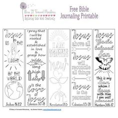 Bless It Forward Ministries - Free Printables Bible Bookmark, Bookmarks, Bible Journaling For Beginners, Art Journaling, Bible Verse Coloring Page, Bible Resources, Bible Illustrations, Bible Study Tools, Free Bible
