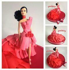 Bizcocho Barbie Rojo