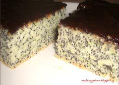 Cuketovo-makový koláč s čokoládovou polevou