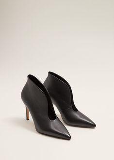 075e9076f4a Slit leather ankle boots - f foHeeled shoes Woman