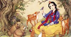 "What would some of our favorite Disney fairytales and Western stories look like if they had been conceived in Eastern Asia? Korean illustrator Na Young Wu has an idea – her illustrations feature Disney characters new and old reinterpreted through the prism of modern Korean cartoon illustration, also known as ""manhwa."""