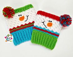 Free Pattern: Sampler Snowman Boot Cuffs ~ SnApPy ToTs