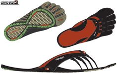 The Sazzi Decimal includes a full support footbed and bio-mechanical upper