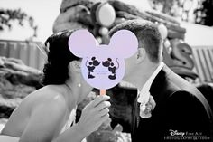 Mickey Mouse wedding program fans