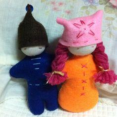 My handmade Steiner pocket size dolls.