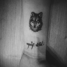 Forearm tattoo of a wolf. Girly Tattoos, Little Tattoos, Trendy Tattoos, Tattoos For Guys, Small Wolf Tattoo, Small Forearm Tattoos, Forearm Sleeve Tattoos, Small Tattoos, Wolf Tattoos
