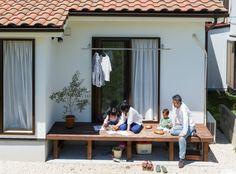 【アイジースタイルハウス】ウッドデッキ。子どもを見守りながら お料理と自然空間を楽しむ暮らし