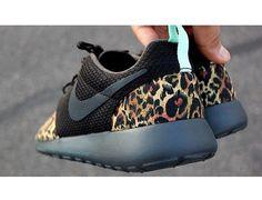 shoes cheeta print nike roshe run buy now custom made