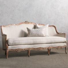 Eloquence One of a Kind Vintage Daybed Louis XV Gesso & Red. #laylagrayce #new #couch