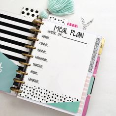 Happy Planner Meal Planner Dashboard Happy by PaperDollDesignsShop