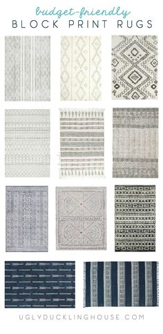 Lots of budget-friendly affordable picks for block print area rugs (and not just white or flat-weave ones!) http://www.uglyducklinghouse.com/affordable-extra-large-block-print-area-rug/?utm_campaign=coschedule&utm_source=pinterest&utm_medium=Sarah%20Fogle%20%7C%20The%20Ugly%20Duckling%20House&utm_content=Finding%20an%20Extra%20Large%20Rug%20I%20Love...%20and%20Can%20Afford