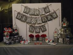 Elegant Birthday Party Centerpieces