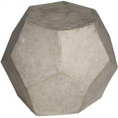 Noir Geometry Side Table/Stool
