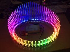 Instructables user made this gorgeous glowing crown using our 60 Neopixel ring! Acrylic, LED NeoPixel Ring, Make, Easy DIY Tech Best In Ear Headphones, Light Up Clothes, Burning Man Art, Led Costume, Burning Man Outfits, Wearable Technology, Laser Cutting, Diy Fashion, Head Light
