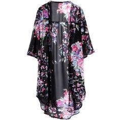 Floral Kimono Black floral kimono. Size small. Never worn Tops