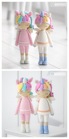 Knitted Dolls Free, Doll Patterns Free, Crochet Amigurumi Free Patterns, Crochet Animal Patterns, Crochet Doll Clothes, Crochet Blanket Patterns, Crochet Unicorn Pattern Free, Crochet Unicorn Hat, Doll Amigurumi Free Pattern