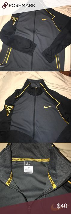 🐍 Nike Kobe Mamba Nike Dri-fit zipup track jacket No rips snags or holes. All zippers are fully functional.   Comes from a smoke/pet free home Nike Jackets & Coats Lightweight & Shirt Jackets