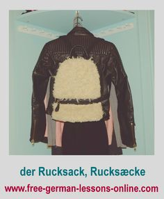 Learn how to say backpack in German.
