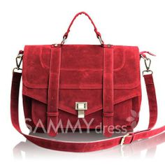 $25.48 Vintage Women's Tote Bag With Suede and Solid Color Design