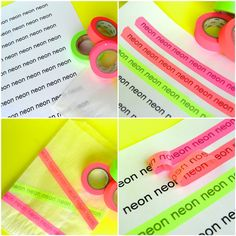 When you lay washi tape over printed text, the adhesive picks up the ink, allowing you to create your own custom washi tape!