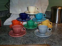 Vintage Fiesta Ware ROSE Cup & Saucer Set