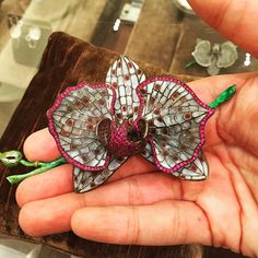 Saw this beautiful plique-a-jour #brooch @bergdorfs trunk show of Luz Camino's wonderful collection #luzcamino #bergdorfgoodman #thebroochisback