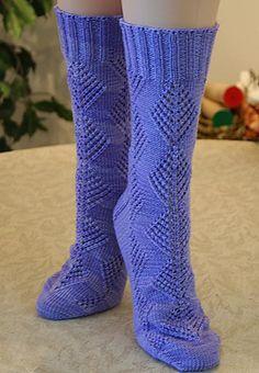 Ravelry: Diamond Lace Socks pattern by Wendy D. Johnson