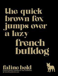 Original Typeface: Faline Bold by Mish Stark, via Behance