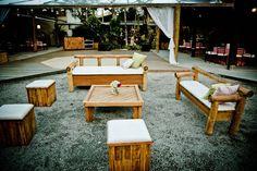 Lounge para interação dos convidados