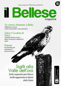 """Anteprima - Ideazione, Progettazione e Sviluppo della grafica di copertina e di impaginazione della rivista """"Il Bellese - Marzo 2012"""" (Bella - Associazione Filemone)"""