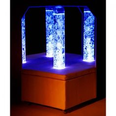 The Portable Calming LED Bubble Tube Corner is an interactive, calming environment. Perfect for kids with sensory needs, including those with special need and autism, soft padded platform and two shatterproof acrylic mirrors magnify the effect of the calming bubbles and vibrations. Calm & Focus.