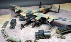Airfix Lancaster B.II and the bomber resupply set build article Ww2 Aircraft, Military Aircraft, Scale Models, Monogram Models, Lancaster Bomber, Model Hobbies, Military Modelling, Ww2 Planes, Model Airplanes