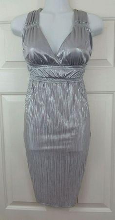 Womens Sexy Silver Greek Roman Egyptian Goddess Toga Dress Costume L…