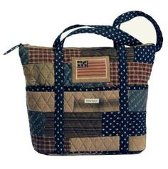 Crystal this would be good for your friend   Patriotic Flag Stride Quilted Handbag