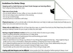 Printables Sleep Hygiene Worksheet sleep insomnia and therapy on pinterest guidelines for better sleep