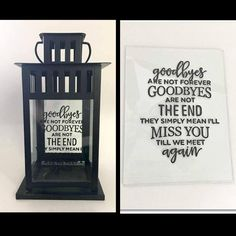 Goodbyes are not forever | Sympathy Gift | Bereavement Gift Craft Gifts, Diy Gifts, Romantic Gifts For Him, Memory Crafts, In Memory Gifts, Christmas In Heaven, Christmas 2019, Bereavement Gift, Remembrance Gifts