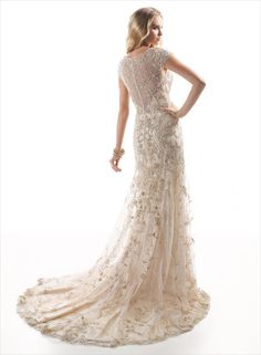 Champagne Gown. Similar train to the Gatsby dress. Tuscany Collection.