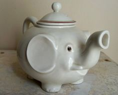 Kitchy Elephant Snout Teapot - Vintage - So Sweet
